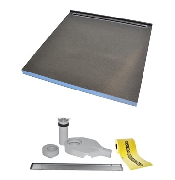 TILEFIX WET ROOM TRAY. DESIGN 1SP 1200 x 1200 and 1000 x 1000 (SINGLE SLOPE WITH NARROW LINER DRAIN BY THE WALL)  **SPECIAL OFFER - SAVE €60.34**