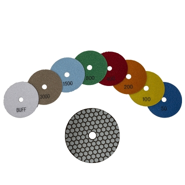 Tilefix - 4 inch dry diamond Sanding/Polishing pads (Buff)