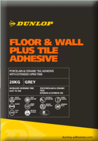 DUNLOP FLOOR & WALL PLUS TILE ADHESIVE - WHITE