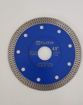 115mm hot pressed x mesh turbo diamond circular saw blade dry/wet for tile and marble cutting