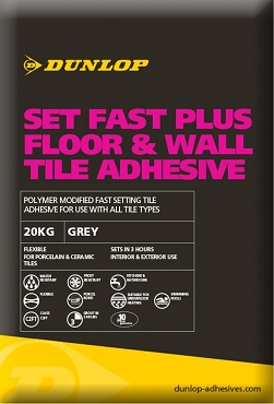 DUNLOP SET FAST PLUS FLEXIBLE TILE ADHESIVE
